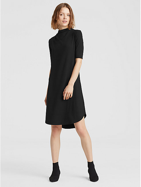 Viscose Jersey Drape Neck Dress