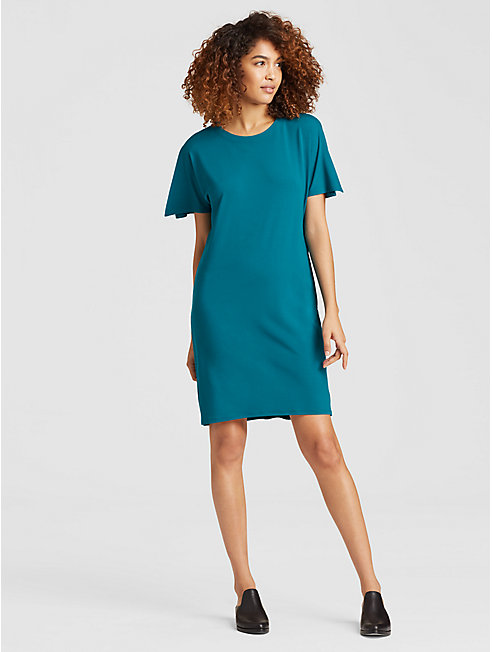 Viscose Jersey Open-Sleeve Dress
