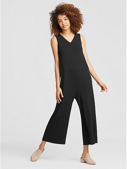 Viscose Jersey Wide-Leg Jumpsuit