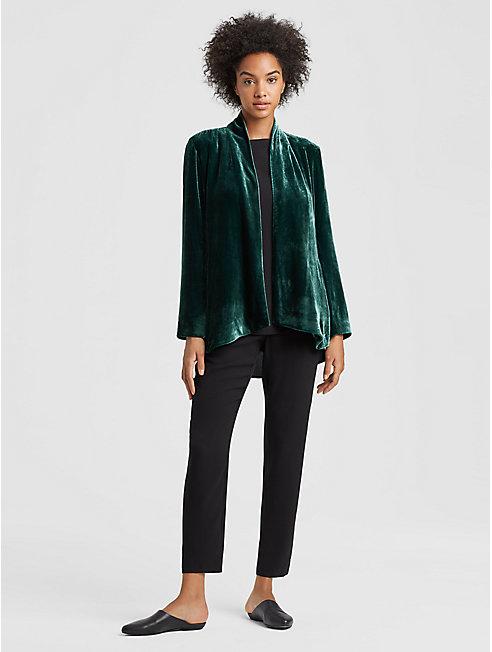 Velvet Angled Jacket