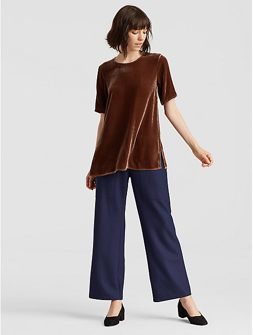 Velvet Short-Sleeve Top