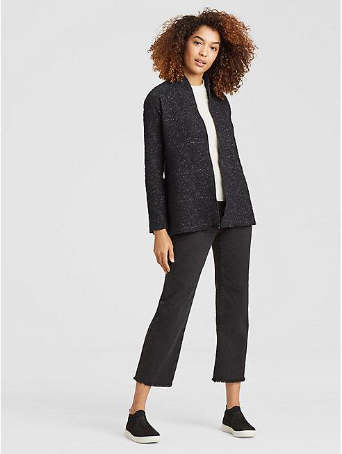 Organic Cotton Tencel High Collar Jacket