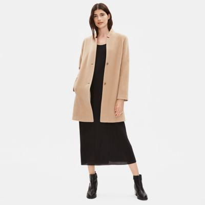 Baby Alpaca Wool Notch Collar Coat