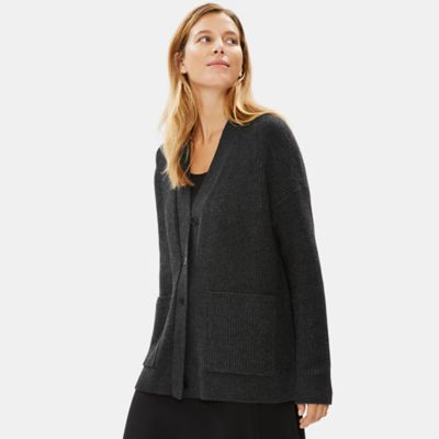 Lofty Recycled Cashmere V-Neck Cardigan