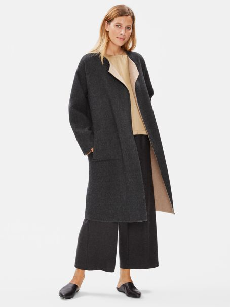 Limited Edition Baby Alpaca Doubleface Long Coat by Eileen Fisher