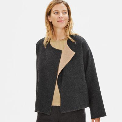 Limited Edition Baby Alpaca Doubleface Short Coat
