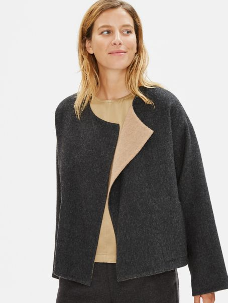 Limited Edition Baby Alpaca Doubleface Short Coat by Eileen Fisher