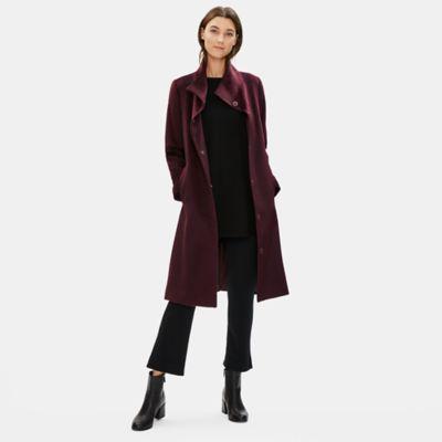 Luxe Baby Alpaca Wool High Collar Coat