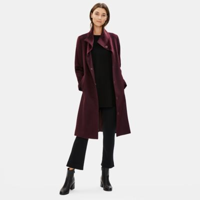 Luxe Baby Alpaca Wool High Collar Coat