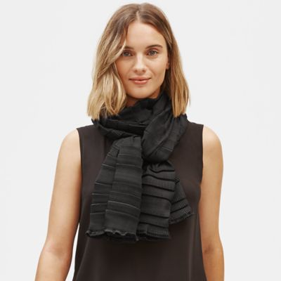 Recycled Polyester Pleated Scarf