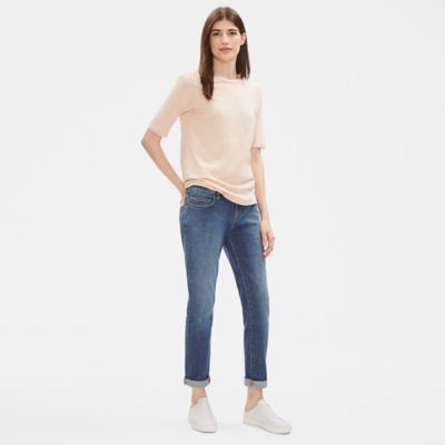 Organic Cotton Stretch Boyfriend Jean