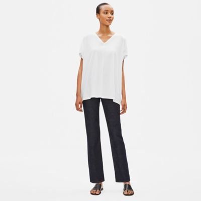 Organic Cotton Stretch Straight Ankle Jean