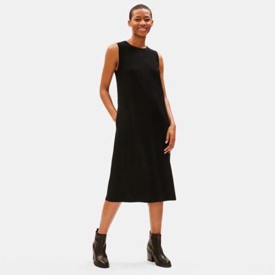 Boiled Wool Jersey Lantern Dress
