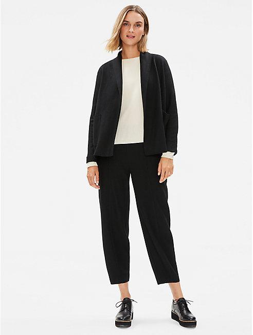 Boiled Wool Jersey Shawl Collar Jacket