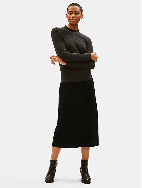 Boiled Wool Jersey Lantern Skirt