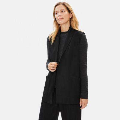 Boiled Wool Jersey Vest