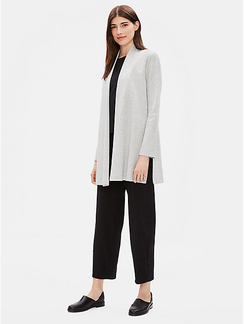 Organic Cotton Herringbone Long Jacket