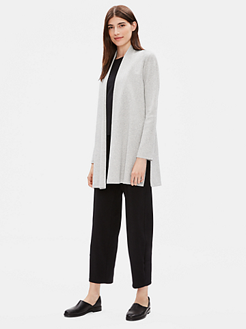Organic Cotton Herringbone Long Jacket