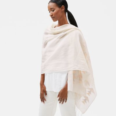 Handloomed Organic Cotton Jamdani Wrap