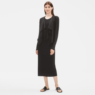 Organic Linen Drape Front Cardigan