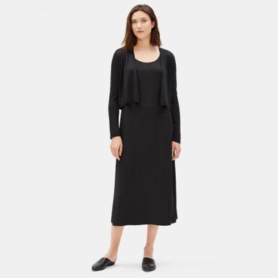 Fine Silk Cashmere Cropped Cardigan