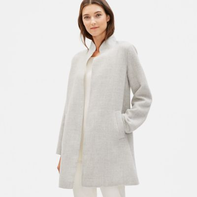 Alpaca Stand Collar Coat