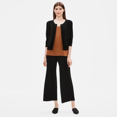 Tencel Stretch Cropped Cardigan