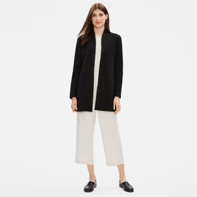 Cotton Tencel Stretch Chevron Jacket