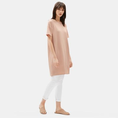 Tencel Stretch Rib Boxy Dress