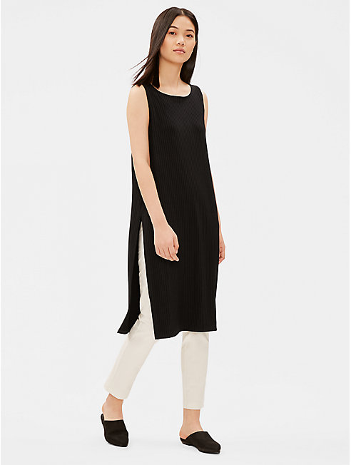 Tencel Stretch Rib Long Tunic