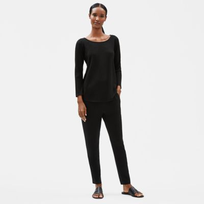 Tencel Stretch Rib Bracelet-Sleeve Top