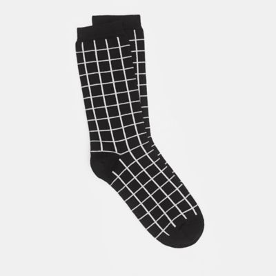 Fine Cotton Windowpane Sock