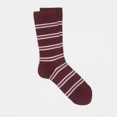 Fine Cotton Striped Sock
