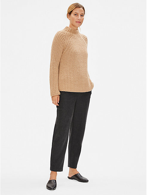 Limited Edition Soft Wool Flannel Slouchy Pant
