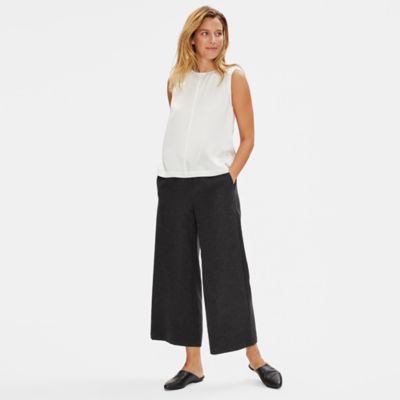 Limited Edition Soft Wool Flannel Wide-Leg Pant