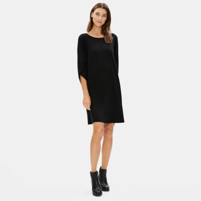 Tencel Jersey Lantern Sleeve Dress