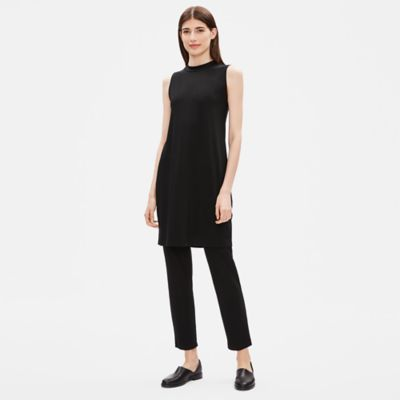 Tencel Jersey Mock Neck Dress