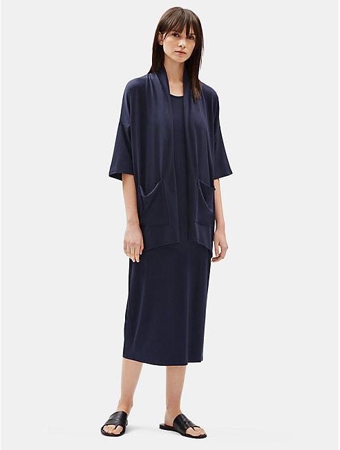 Tencel Jersey 3/4-Sleeve Cardigan