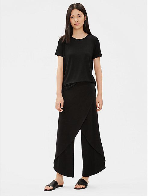 Tencel Jersey Wide-Leg Wrap Pant