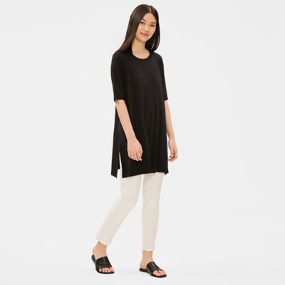 Tencel Jersey Elbow-Sleeve Tunic