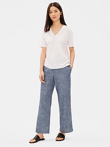 Hemp Organic Cotton Chambray Straight Pant