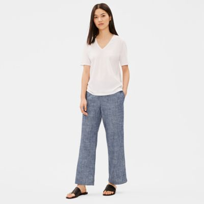 Hemp Organic Cotton Chambray Straight Pant