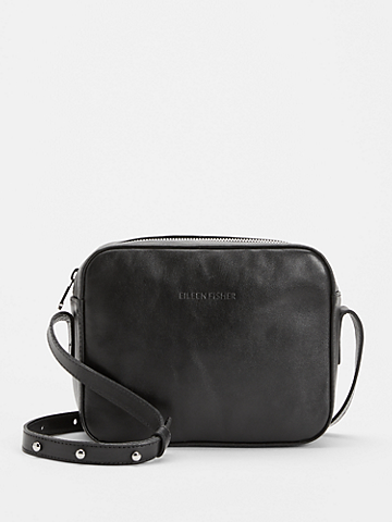 Sleek Italian Leather Crossbody Bag