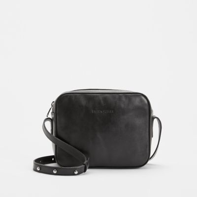 Sleek Italian Leather Crossbody Bag