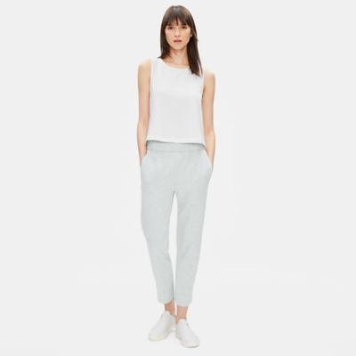 Organic Cotton Speckle Knit Slouchy Pant