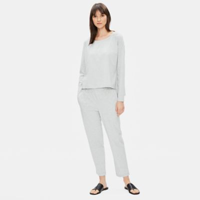 Organic Cotton Speckle Knit Box-Top