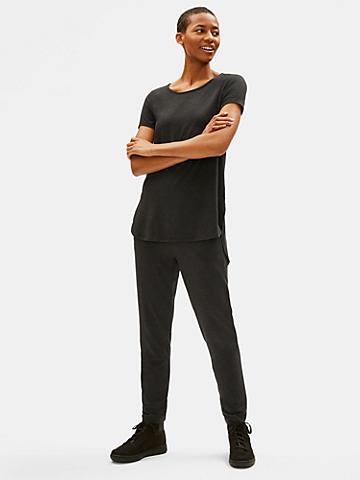 Lightweight Tencel Jersey Shirttail Tee