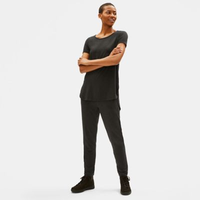Lightweight Tencel Jersey Shirttail Tee