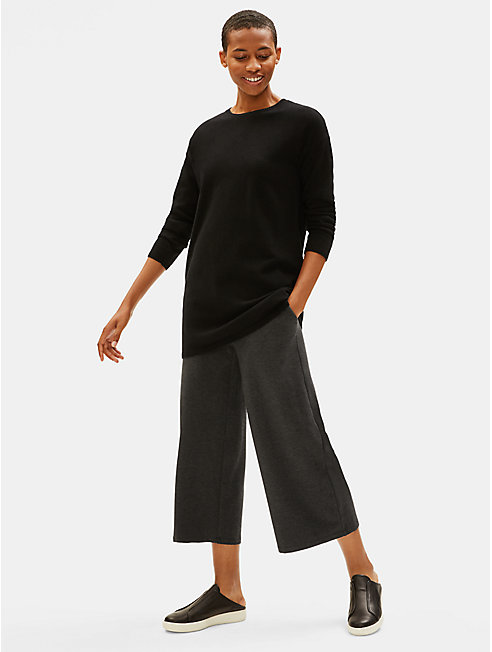 Tencel Stretch Jersey Straight Cropped Pant