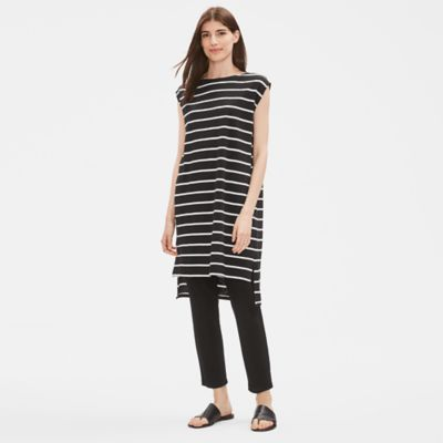 Organic Cotton Slub Striped Dress